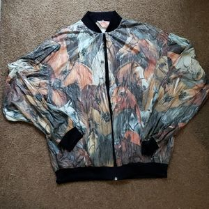 Crazy Horse Print Windbreaker style jacket